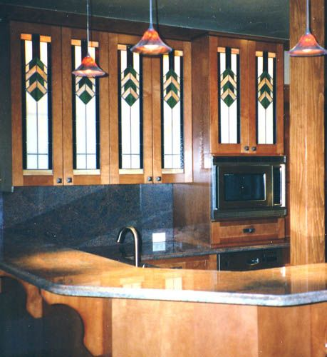 17 best images about stained glass kitchen cabinets on for Beveled glass kitchen cabinets