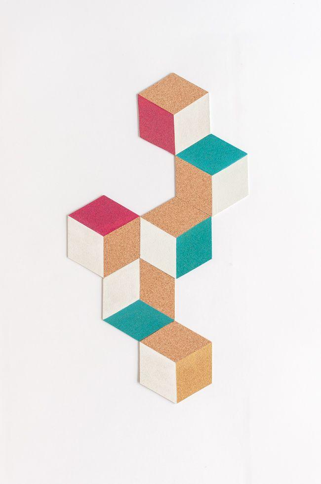Como fazer coasters de cortiça | A Parede Indecisa
