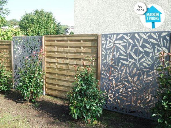 cloison décorative, clôture design, clôture, paravent métal, cloison design, cloison acier, cloison métal, jardin design