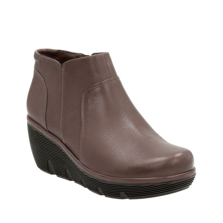 Clarene Sun Taupe Leather - Wide Shoes for Women - Clarks® Shoes Official  Site