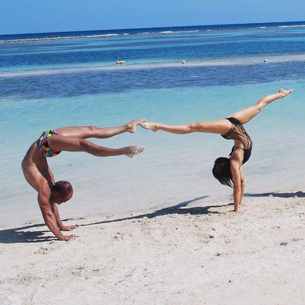 Beach gymnastics! Kudos to Instagram Fan Maria Atrim! #CruiseLikeaNorwegian