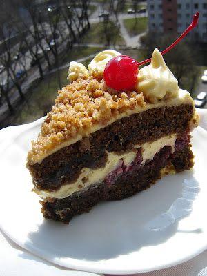 Po waniliowo-brzoskwiniowym torcie angielskim  nabrałam ochoty na tort szwarcwaldzki. Oczywiście dwa z podstawowych składników tego tortu –...