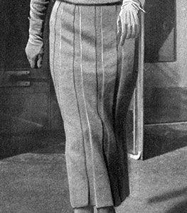 Skirt in Box Plait Effect Pattern #146