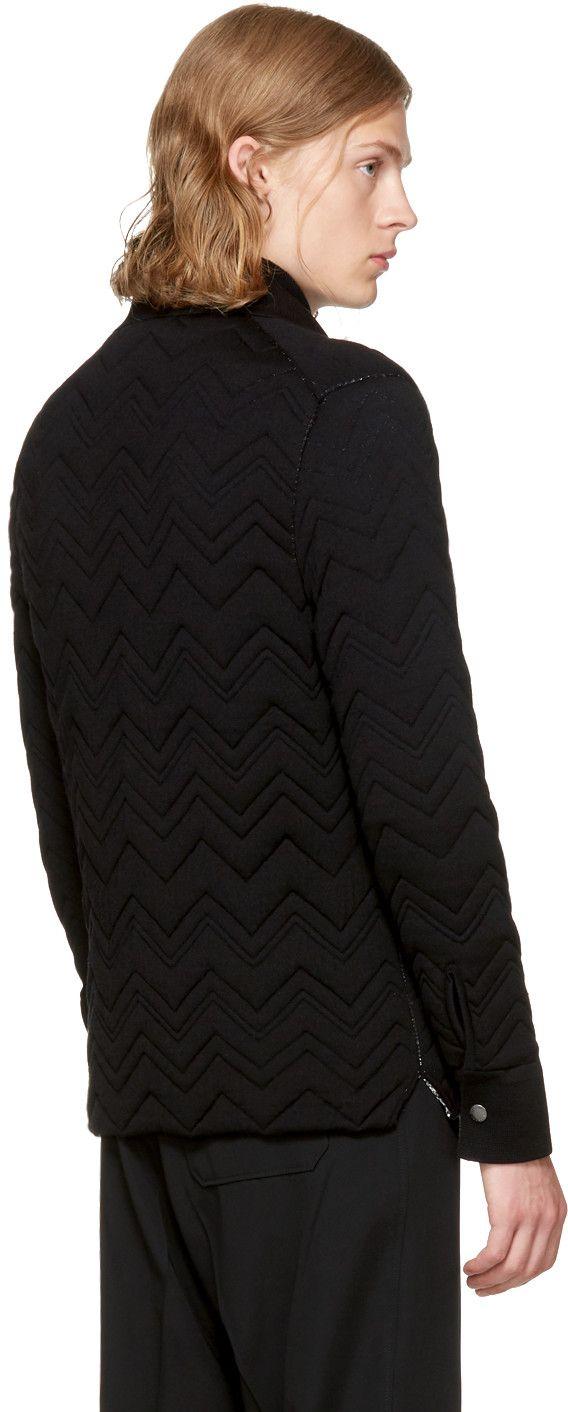 Missoni - Reversible Black Chevron Jacket