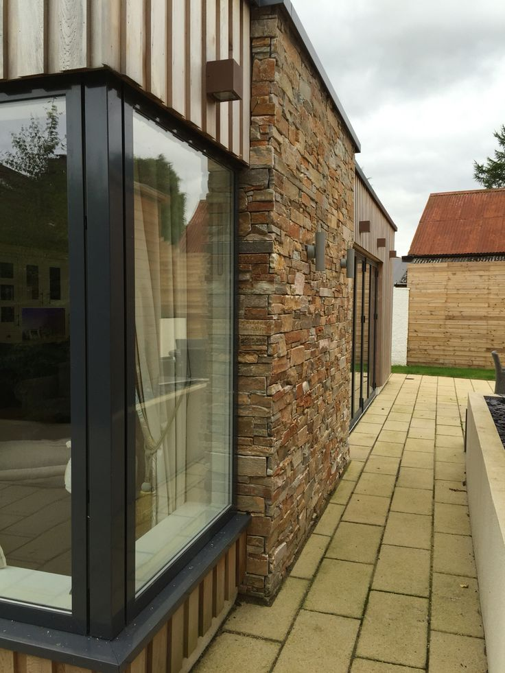 Corner window. Our house extension project in North Lanarkshire