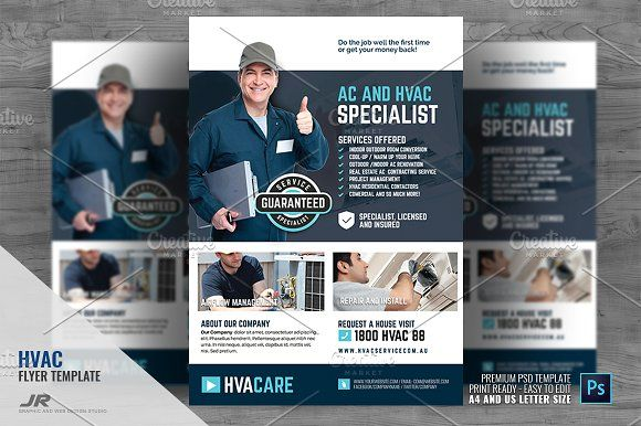 Hvac Repair And Maintenance Flyer