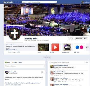 Kirker på sociale medier