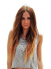 18 Inch Double Weft Dip Dye Hair Extensions In Light Chestnut Brown Strawberry Blonde