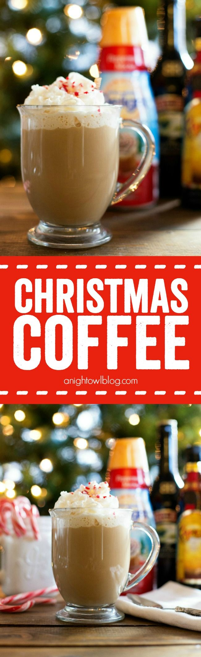 Whip up a little Christmas Coffee this year - a delicious spiked blend of coffee and peppermint. Make those spirits bright!: