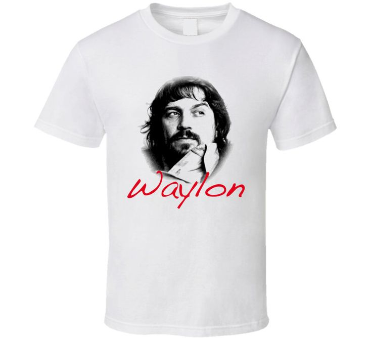 Waylon Jennings Country Music Star T Shirt by FunnyTshop on Etsy https://www.etsy.com/listing/464403485/waylon-jennings-country-music-star-t