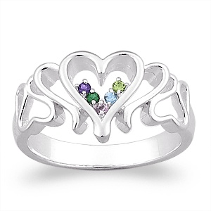 A mother's ring with enough room for Gotcha Day month and birth month.