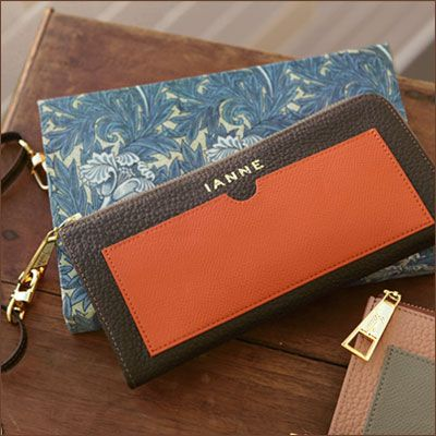 【IANNE】革を染めるところから手掛ける特注レザーの長財布●L字ウォレット NATALY(ナタリー)