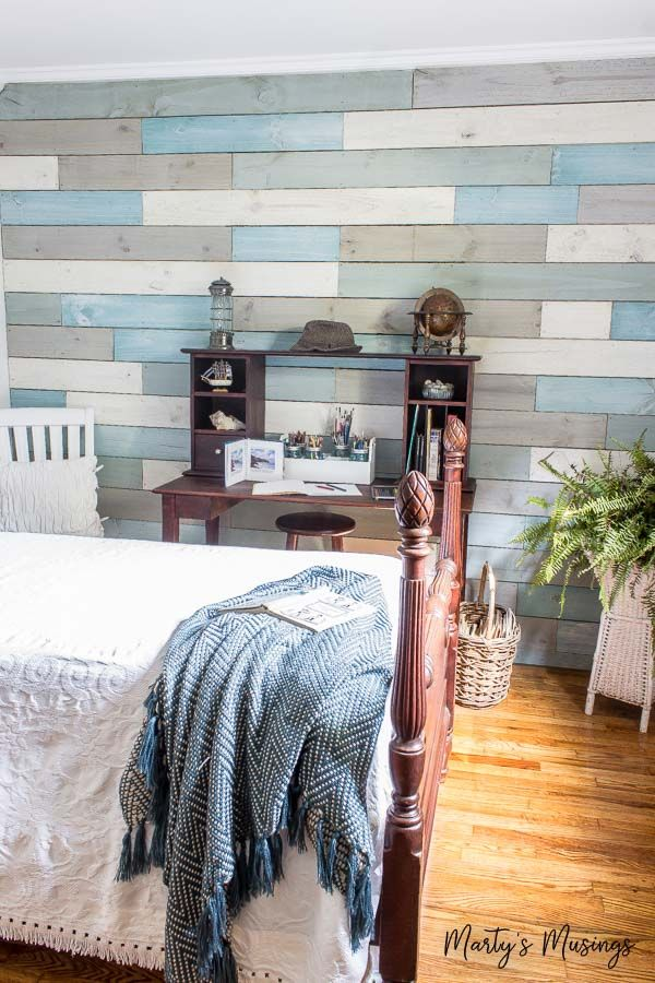 How to diy plank walls with chalk paint