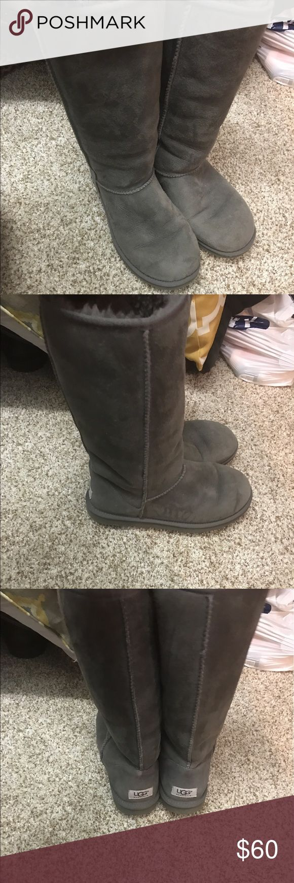 Grey Uggs Great condition! Size 9 grey uggs. UGG Shoes Winter & Rain Boots