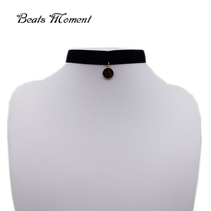 Chokers Necklaces B&M 2016 New Fashion Black Velvet Ribbon Double Side Enamel Constellation Pendant Chocker Necklace 2016