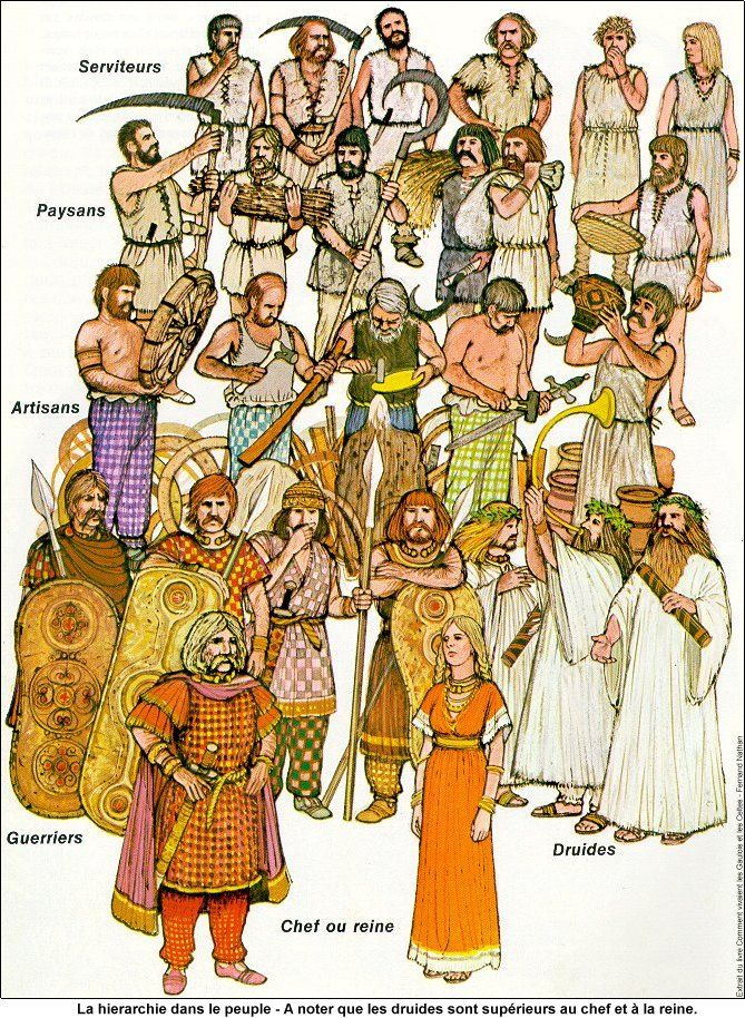Gaulish social hierarchy (although Druids were technically higher than chieftains)