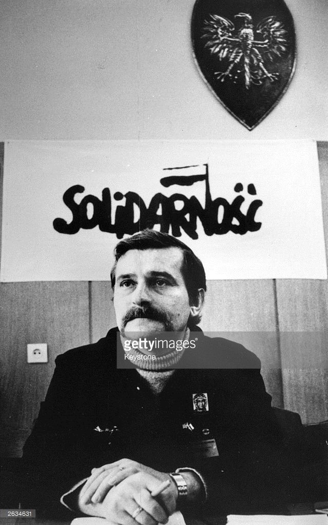 1981: Lech Walesa, Polish trade unionist who worked as an electrician in the Lenin shipyard where he founded the Solidarnosc (Solidarity) Trade Union.