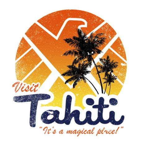 "#Marvel Comics: Agents of Shield: Visit #Tahiti ""It's a magical place!"" t-shirt."