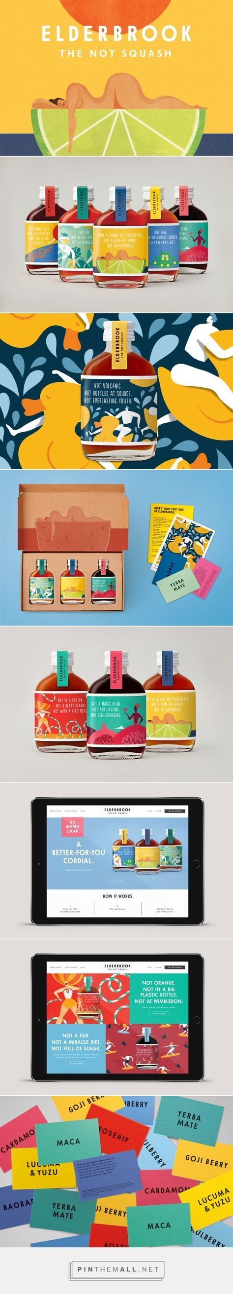 Elderbrook #drinks #packaging #design by & SMITH (#UK) -