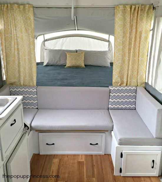 Laura S Pop Up Camper Makeover Adorable Cozy Interior Design Remodeled Campers