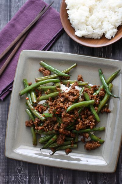 """Szechuan Green Beans with Ground Pork 