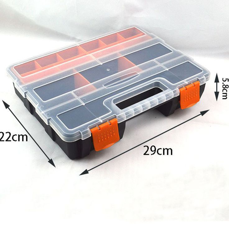 Small Plastic Storage Box Waterproof Tool Box Plastic Parts Box Of The Electronic Element With Strong And Durable Lock design