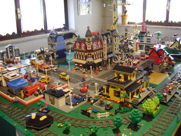 LEGO City. This is what I want to do with our massive lego collection.