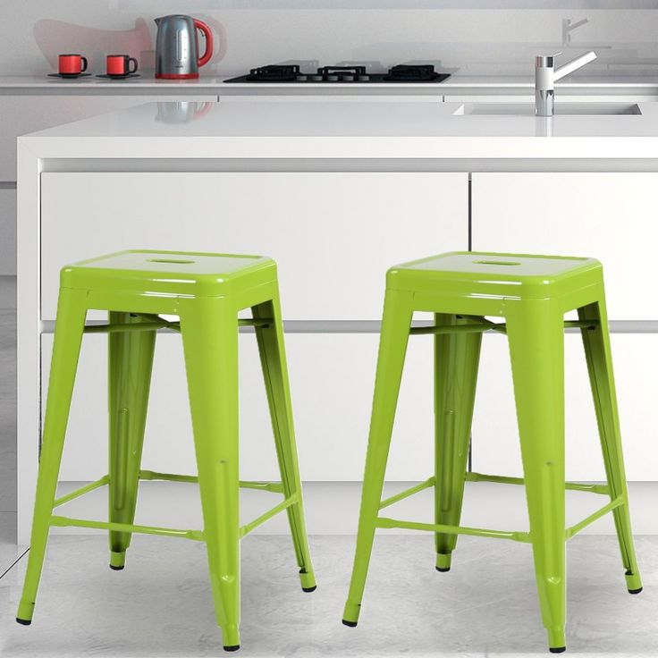 $99.99 - Adeco 24-inch Green Glossy Metal Tolix-style Chair Counter Stool ( - 14 Best Metal Bar Stools Images On Pinterest