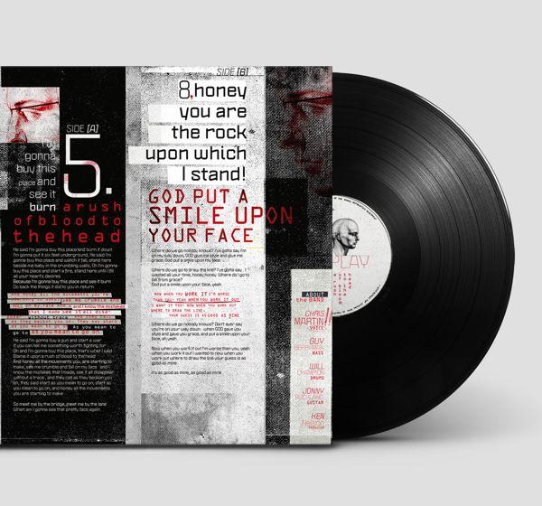 Coldplay Vinyl by Ali Ce, via Behance