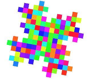 Fractals de Gosper Cette courbe englobe l'île de Gosper d'ordre 4, laquelle se construit globalement comme suit