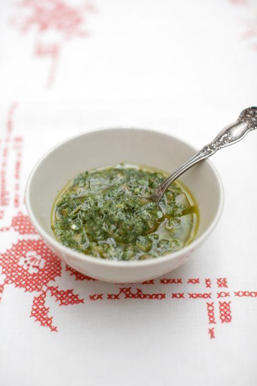 mixed herb salsa verde   Jamie Oliver   Food   Jamie Oliver (UK) Visit: http://explodingtastebuds.com/