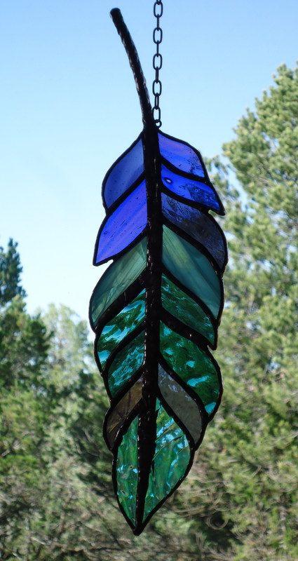 stained glass window panel  GHOST DANCE by ZuniMountainArtGlass