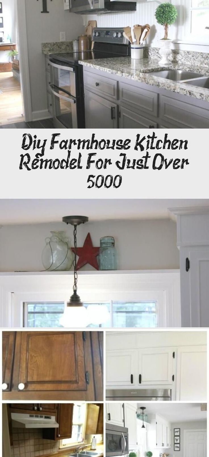 diy farmhouse kitchen remodel for just over 5000 kitchen decor diy farmhouse kitchen remod on kitchen remodel under 5000 id=59975
