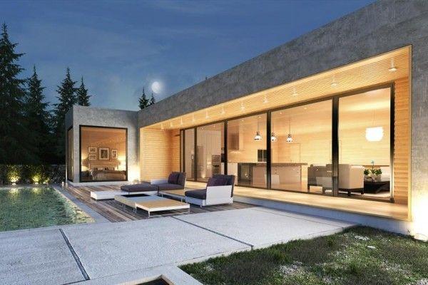 Modelo construido por Donacasa. Disponible en la sección casas modulares de Viviendu.