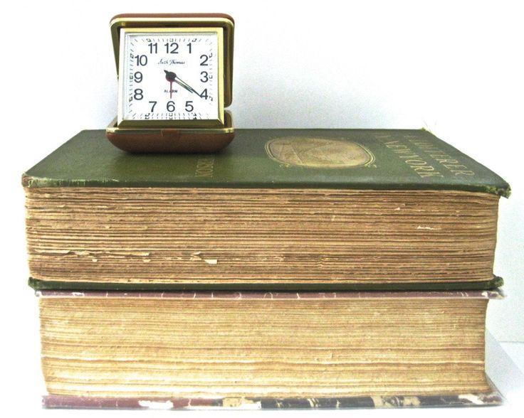 Vintage Travel Alarm Clock SETH THOMAS • Working Order • Midcentury Modern by KatesChockfullAttic on Etsy