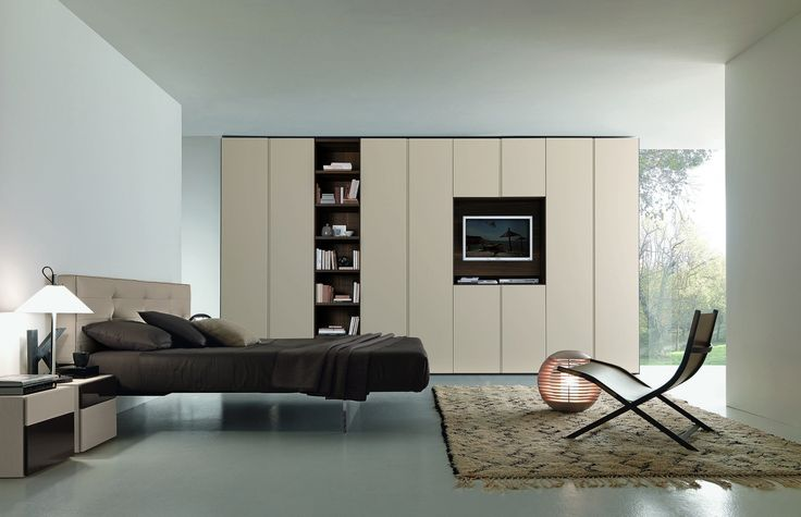 Beverly ložnicová skříň s knihovnou a TV / wardrobe
