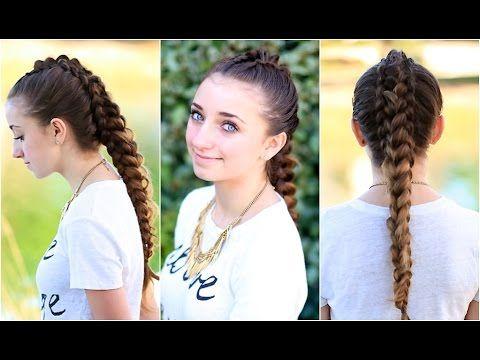 The Dragon Braid..OMG this one is amazing! #hairstyles #hairstyle #braid #dragonbraid #CGHdragonbraid #fauxhawk #longhair #cutegirlshairstyles