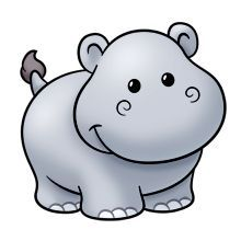 15 best hippo cartoons images on pinterest hippopotamus afrikaans rh pinterest com hippo clipart cute hippo clip art black and white