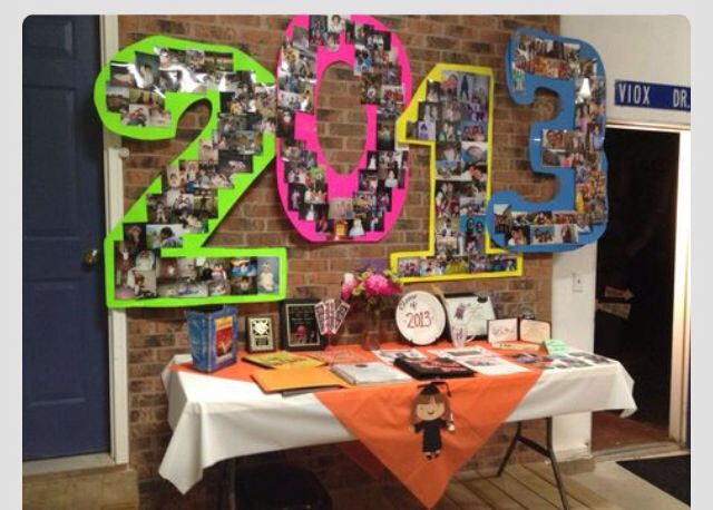 High Quality Graduation Party Ideas For Decoration .from Left To Right Fill Each Number  With Fresh, Soph, Jr U0026 Senior Year. Lol (use School Colors Of Poster Board)