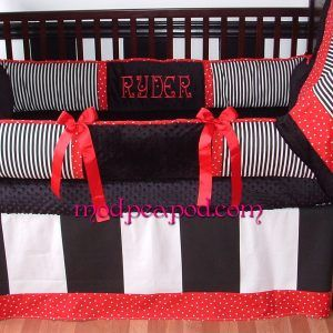 Black And Red Baby Bedding Sets