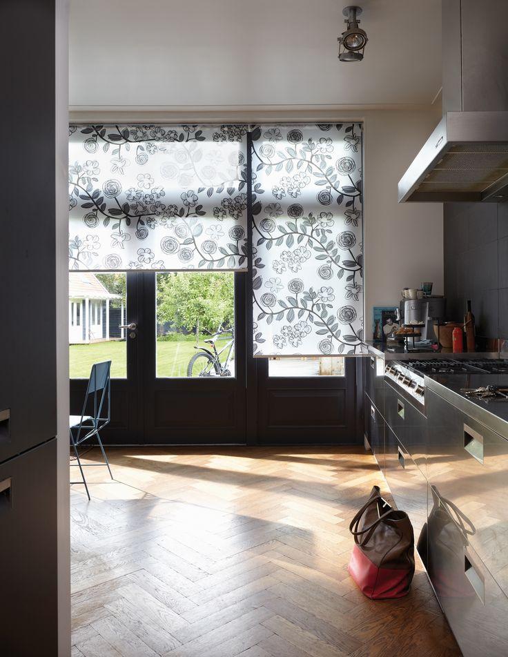 Flora And Fauna Designs In This Luxaflex Kitchen Roller