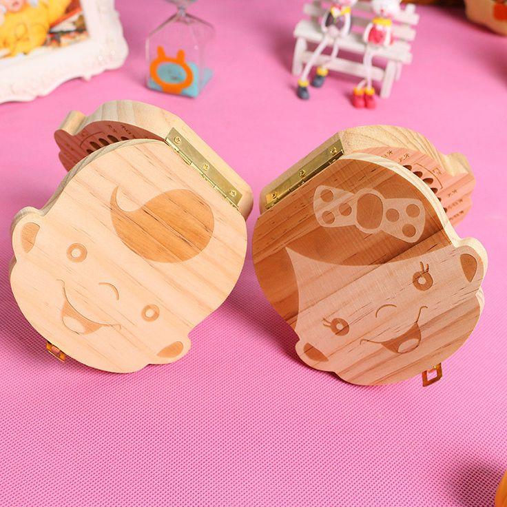 Zahn Box organizer für sie milchzähne Holz box große geschenke 3-6YEARS kreative für kinder Jungen und Mädchen bild
