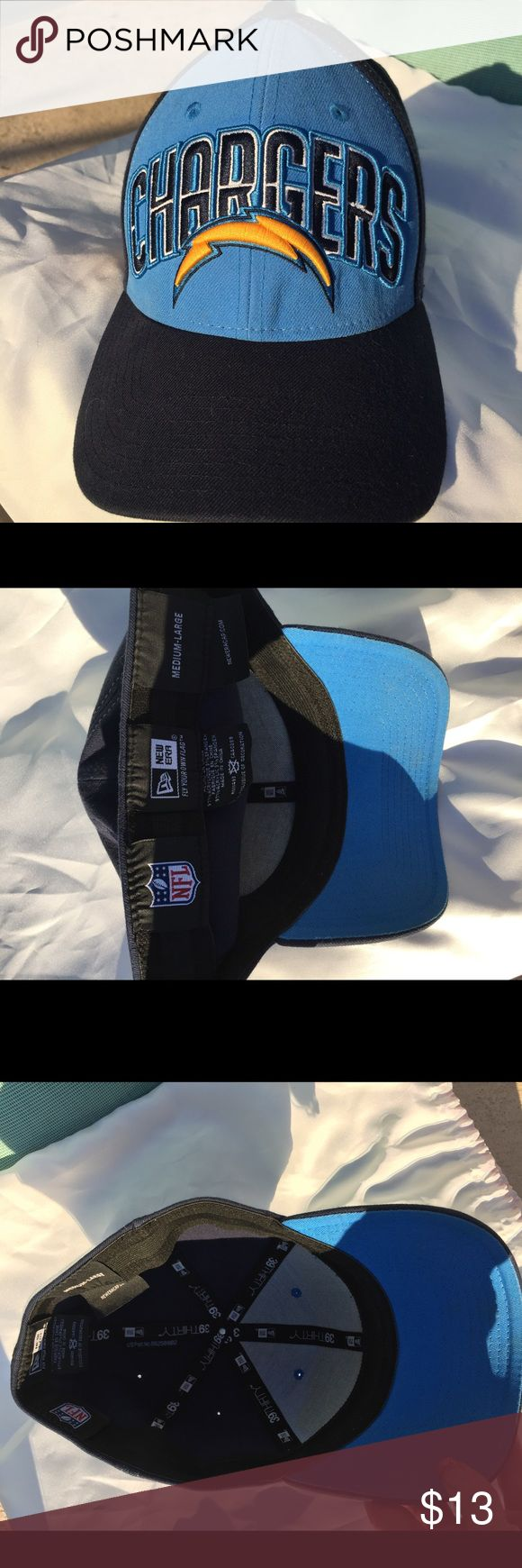New Era 39 Thirty NFL Chargers Hat EUC Hat by New Era 39 Thirty; NFL licensed Chargers Hat in size medium- large New Era Accessories Hats