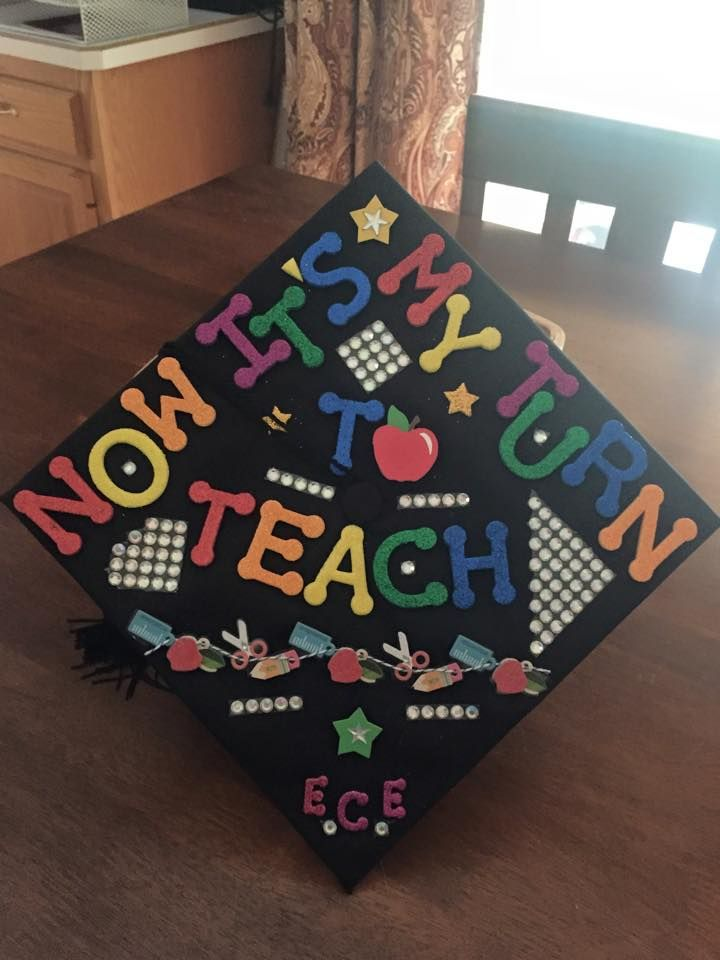 * My daughter's Graduation Cap when she earned her Associates Degree in Early Childhood Education @ MXCC 2015.