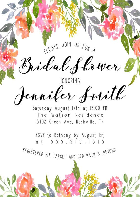 The 25+ best Free bridal shower invitations ideas on Pinterest - free templates for bridal shower invitations