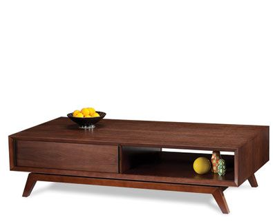 buy bdi eras retro coffee table in chocolate stained walnut from our coffee tables range at tesco direct