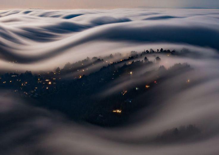 As oníricas ondas de nevoeiro registradas pelo fotógrafo Nick Steinberg 09