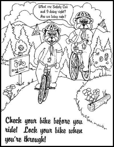 Bike helmet safety coloring pages preschool ~ 17 Best images about bike safety on Pinterest   Create a ...