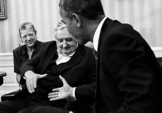 José Mujica y Barack Obama ayer, en el salón oval de la Casa Blanca, en Washington DC (Estados Unidos). / Foto: Brendan Smialowski, AFP