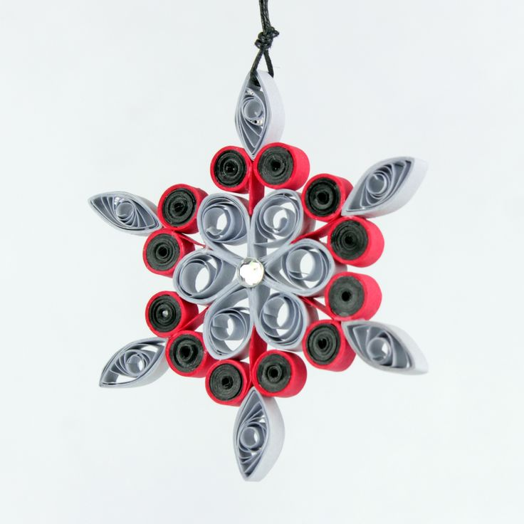 Christmas Gray Flower Quilling Snowflake